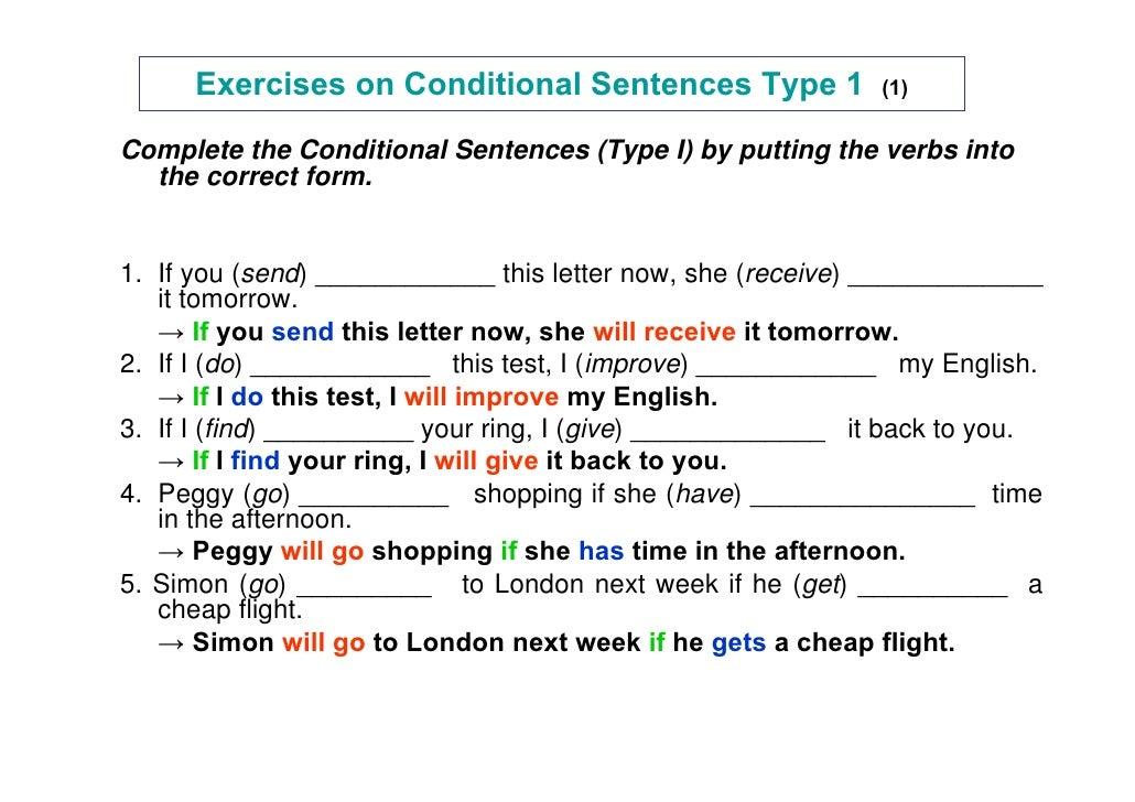 contoh soal essay conditional sentence type 1