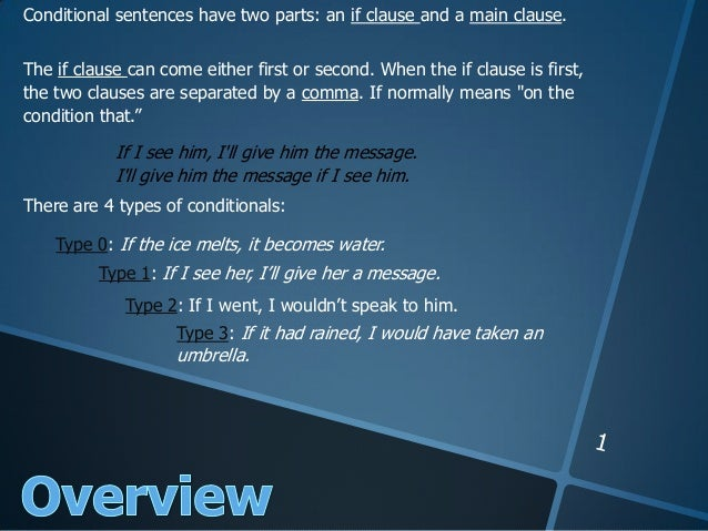 Conditionals Slideshare