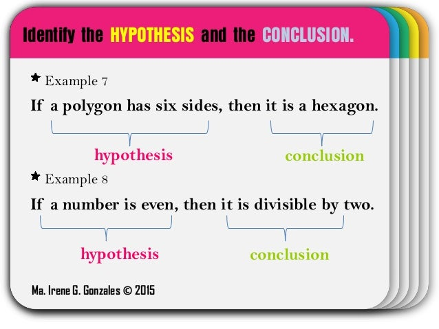 is a hypothesis an if then statement