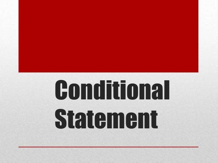 Conditional Statement<br />