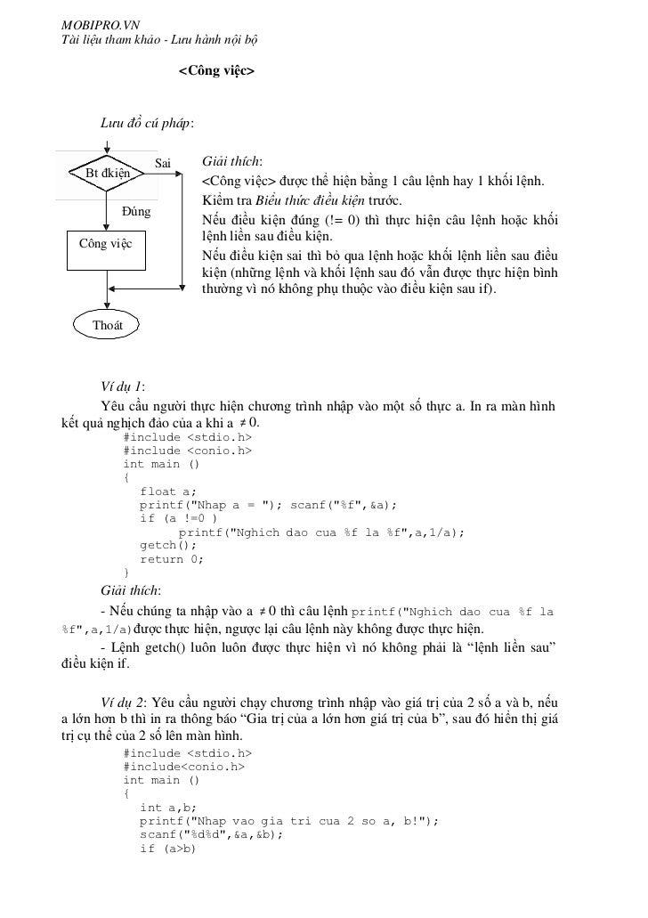 Các cấu trúc lệnh trong C Slide 3