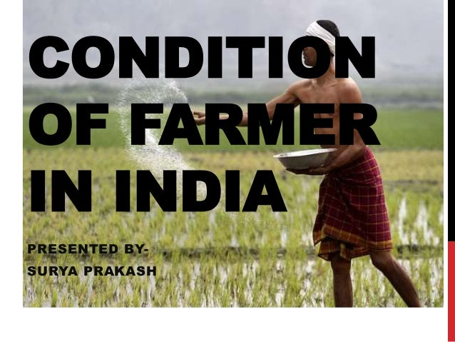 CONDITION OF FARMER IN INDIA PRESENTED BY- SURYA PRAKASH