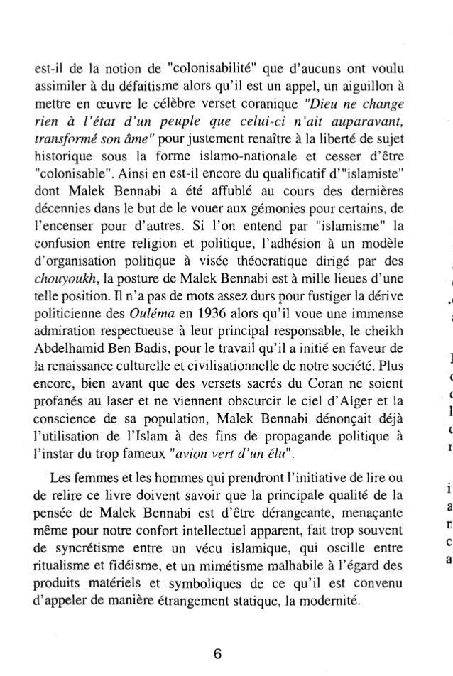 Conditions De La Renaissance Malek Bennabi