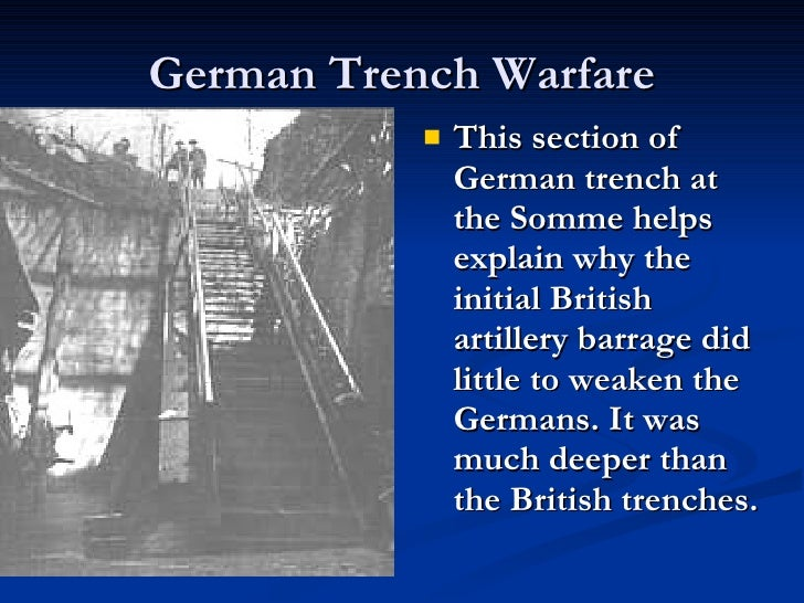 conditions of war trench warfare  14 german trench warfare
