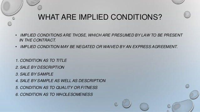 what is implied condition