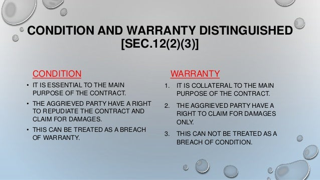 Terms and Conditions & Warranty