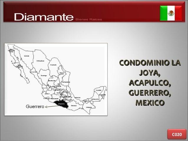CONDOMINIO LACONDOMINIO LA JOYA,JOYA, ACAPULCO,ACAPULCO, GUERRERO,GUERRERO, MEXICOMEXICO C020
