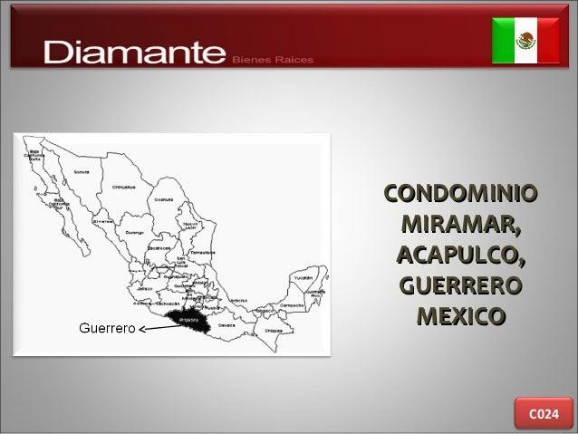 CONDOMINIOCONDOMINIO MIRAMAR,MIRAMAR, ACAPULCO,ACAPULCO, GUERREROGUERRERO MEXICOMEXICO C024