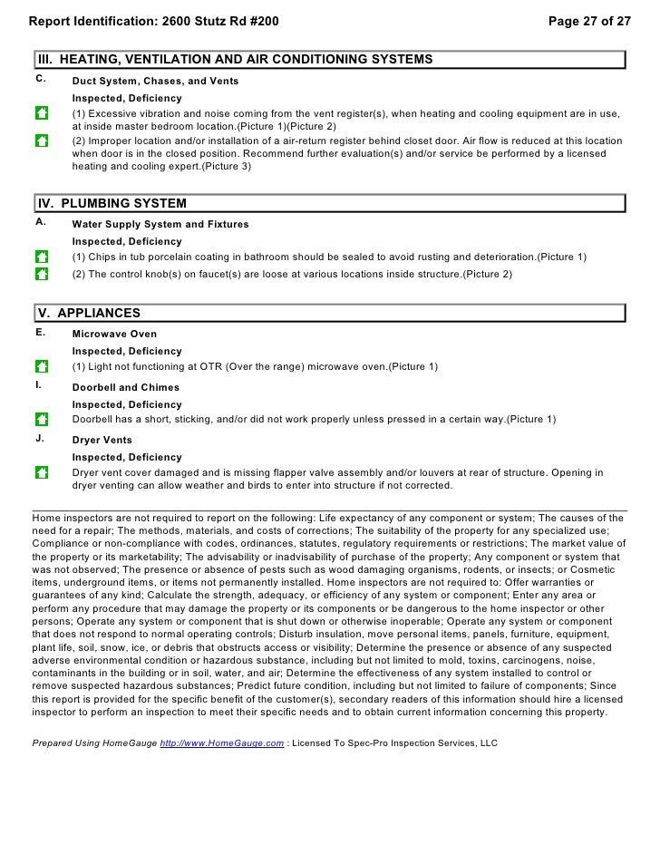 Condominium sample report