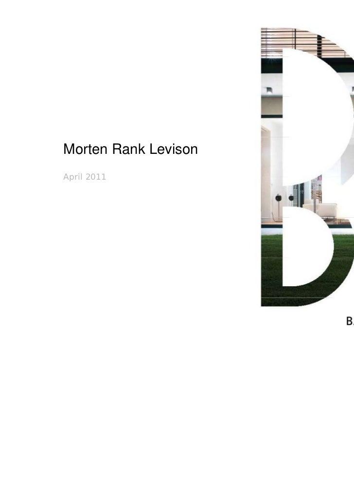 Morten Rank LevisonApril 2011