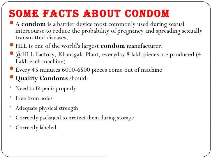Condom use facts