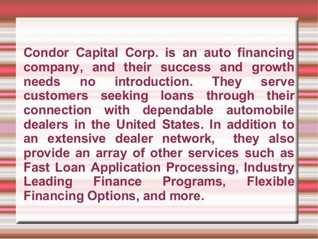condor capital corp offers beneficial auto finance services. Black Bedroom Furniture Sets. Home Design Ideas