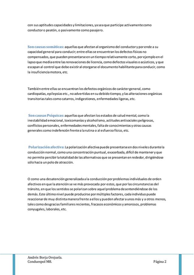 Andrés Borja Orejuela. Conduespol M8. Página 2 con susaptitudescapacidadesylimitaciones,yaseaque participe activamentecomo...