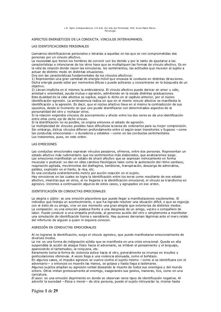 L R. Dpto. Independencia. C.P.A.B. 3er año del Polimodal. Prof. Avila Pablo Mario.                                        ...