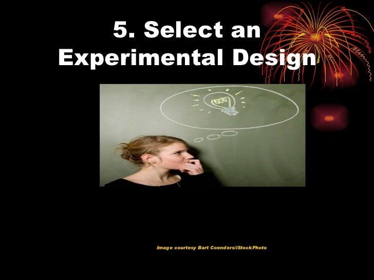 Conducting a psychology experiment