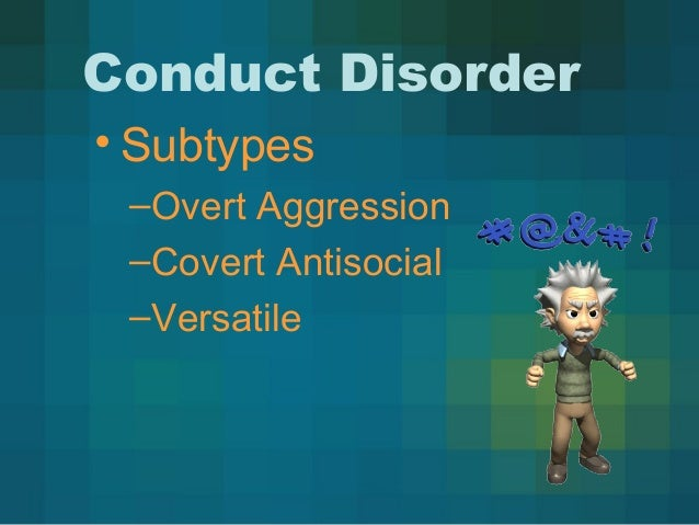 thirteen conduct disorder and american drama Oppositional defiant disorder through an adlerian lens  oppositional defiant disorder (odd) is defined by the american psychiatric association  conduct disorder .