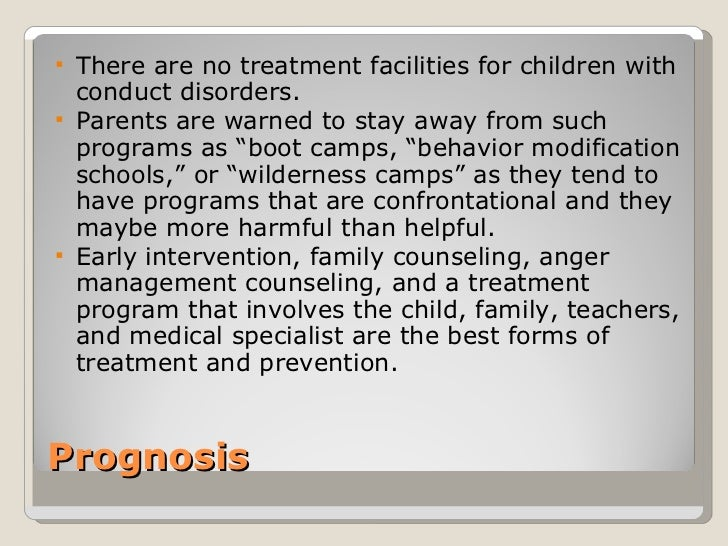 Conduct disorder resource