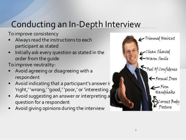 Conducting, analyzing and reporting in depth interviews slideshare 0…