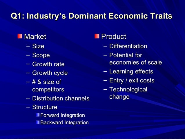 an analysis of dominant economic traits of industry A first finding is that bundling—combining multiple biotech traits in a  economic efficiencies  taken together the papers in this choices theme highlight.