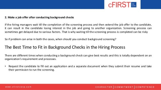 Conducting Background Checks: Before or After Making a Job