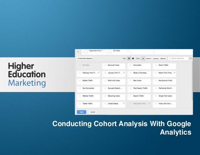 Conducting Cohort Analysis With Google Analytics Slide 1 Conducting Cohort Analysis With Google Analytics