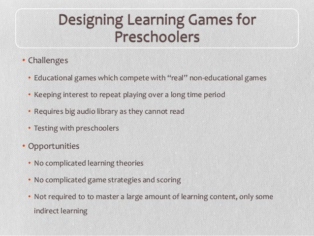 Conducting Evaluation Studies of Mobile Games with Preschoolers Slide 2