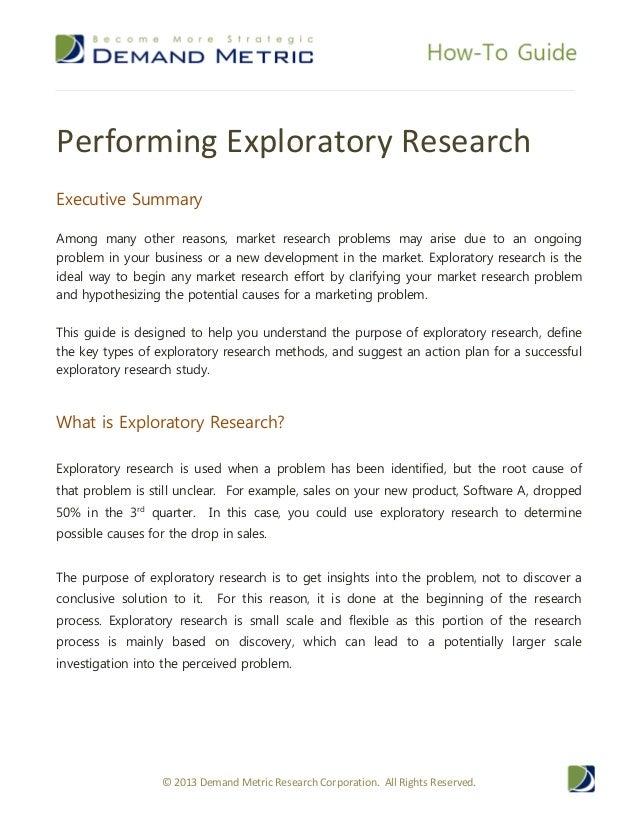 Exploratory research topics