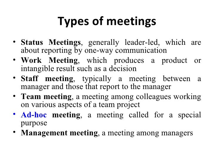 types of meeting Agenda-based minutes or reports are the traditional type of records these are the minutes taken at a scheduled meeting for which the agenda is known the agenda may either be circulated prior to the meeting or announced by the chairperson at the start of the meeting.