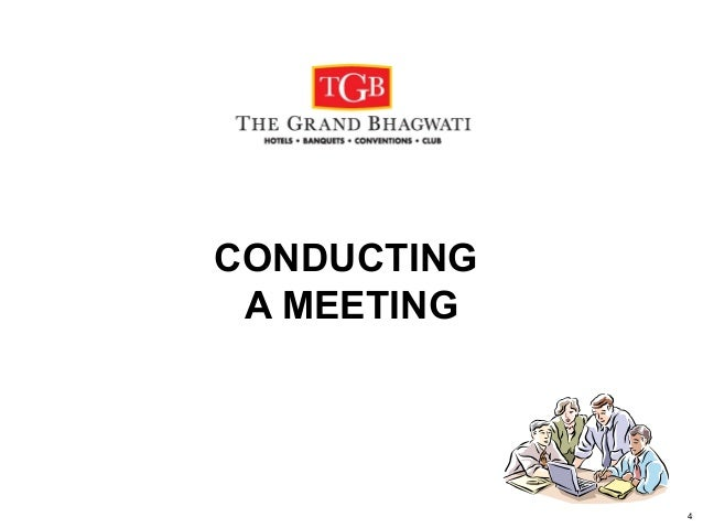 conducting meetings Meetings can serve many different purposes but in order for a meeting to be effective it needs careful planning and structure  conducting a meeting difficult .