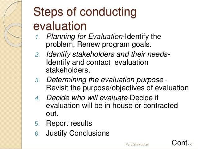 Program Evaluation | Conducting Programme Evaluation