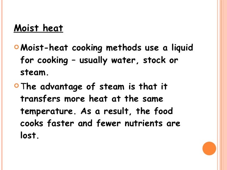 Cooking Methods – Worksheet Methods of Heat Transfer Answers