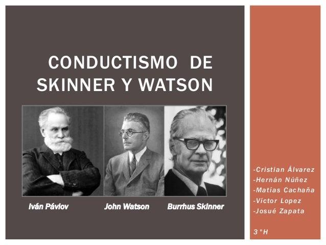 Conductismo Skinner Watson Pavlov