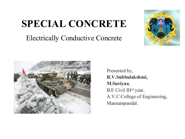 electrically conductive concrete Designing and proportioning electrically conductive concrete for des moines  international airport heated pavement system.