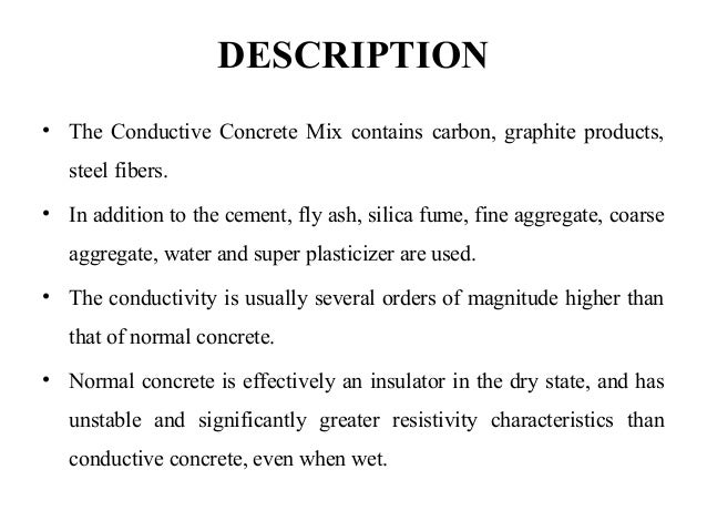 Conductive Concrete Ppt 1