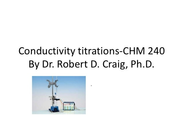 Conductivity titrations-CHM 240  By Dr. Robert D. Craig, Ph.D.               .