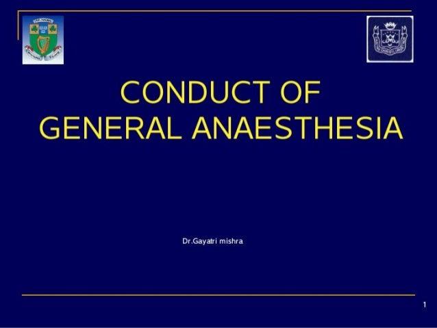 Conduct of GA