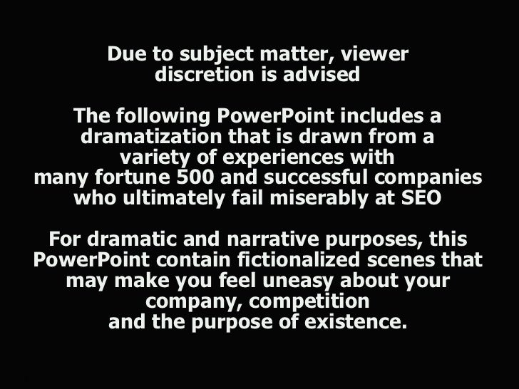 Due to subject matter, viewer               discretion is advised       The following PowerPoint includes a        dramati...