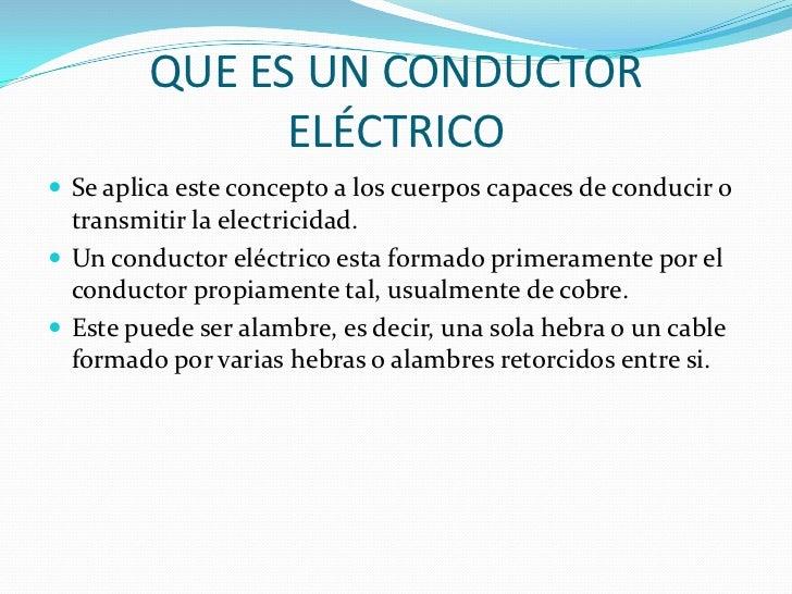 Conductores electricos  Slide 2
