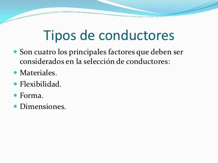 Conductores electricos  Slide 3