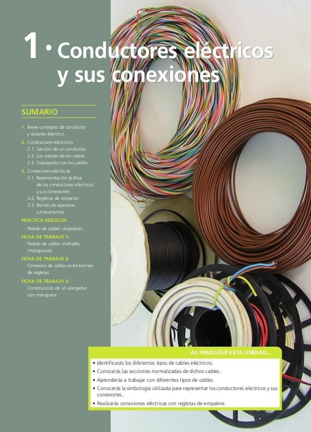 AL FINALIZAR ESTA UNIDAD... • Identificarás los diferentes tipos de cables eléctricos. • Conocerás las secciones normaliza...