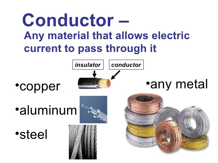 Is Steel A Conductor : Conductors and insulators