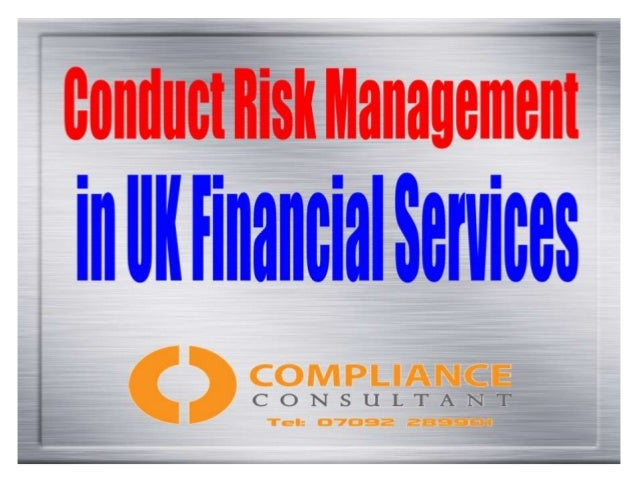 Conduct Risk: What Is It? On January 24th 2014 Mark Carney, Governor of the Bank of England told bankers at a meeting in D...