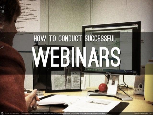 How to Conduct Successful Webinars