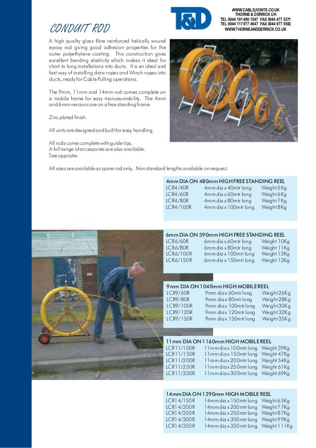 Seb Conduit Rods Cable Pulling Laying Equipment