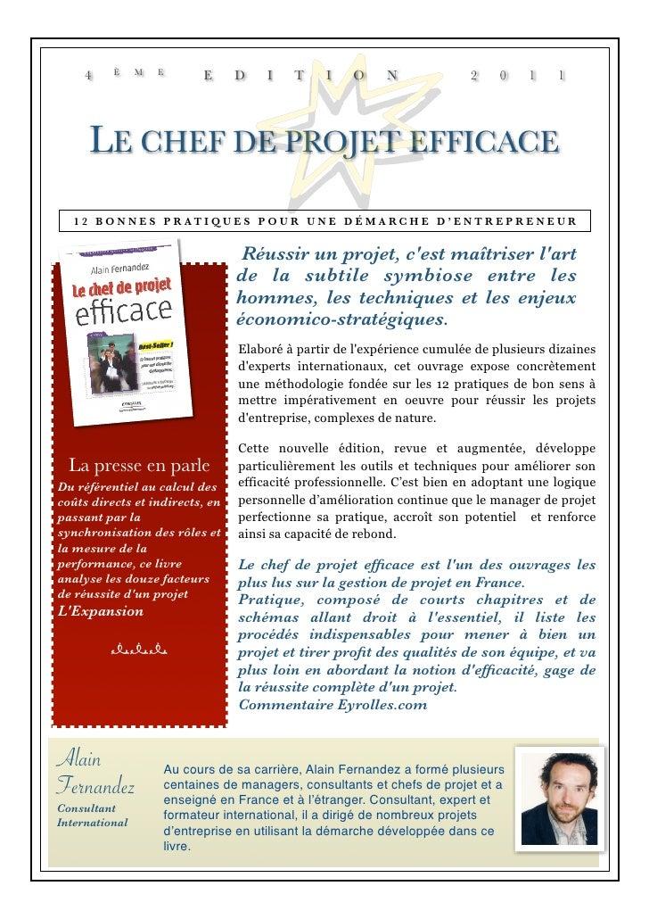 4    È     M   E         E     D    I    T    I    O    N              2    0    1    1     LE CHEF DE PROJET EFFICACE   1...