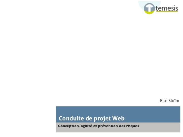 Conduite de projet Web  Conception, agilité et prévention des risques  Elie Sloïm