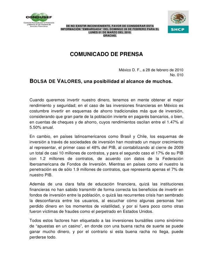 """DE NO EXISTIR INCONVENIENTE, FAVOR DE CONSIDERAR ESTA                 INFORMACIÓN """"EMBARGADA"""" DEL DOMINGO 28 DE FEBRERO PA..."""