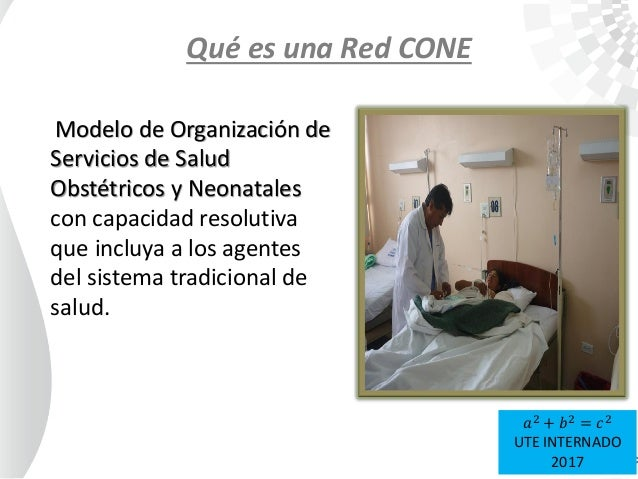 Qué es una Red CONE Modelo de Organización de Servicios de Salud Obstétricos y Neonatales con capacidad resolutiva que inc...