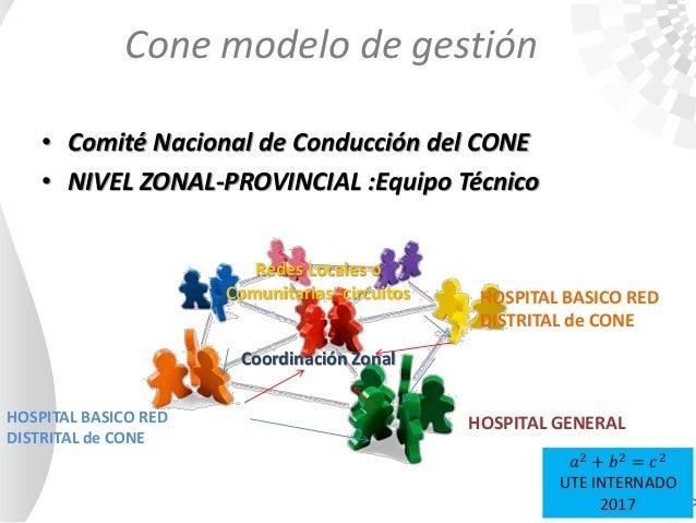 • Comité Nacional de Conducción del CONE • NIVEL ZONAL-PROVINCIAL :Equipo Técnico HOSPITAL GENERAL HOSPITAL BASICO RED DIS...