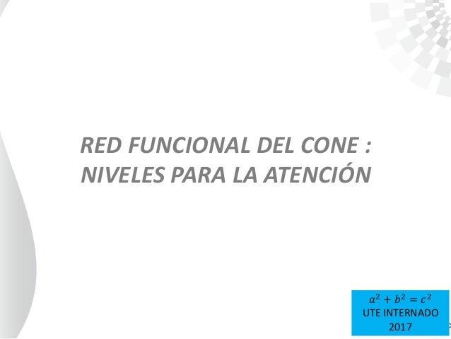 RED FUNCIONAL DEL CONE : NIVELES PARA LA ATENCIÓN 𝑎2 + 𝑏2 = 𝑐2 UTE INTERNADO 2017